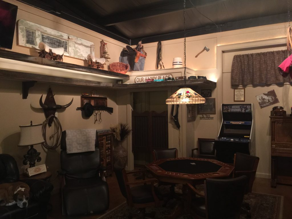 Well as I said in the last post I was going to add a G scale train in the man cave but the G scale w