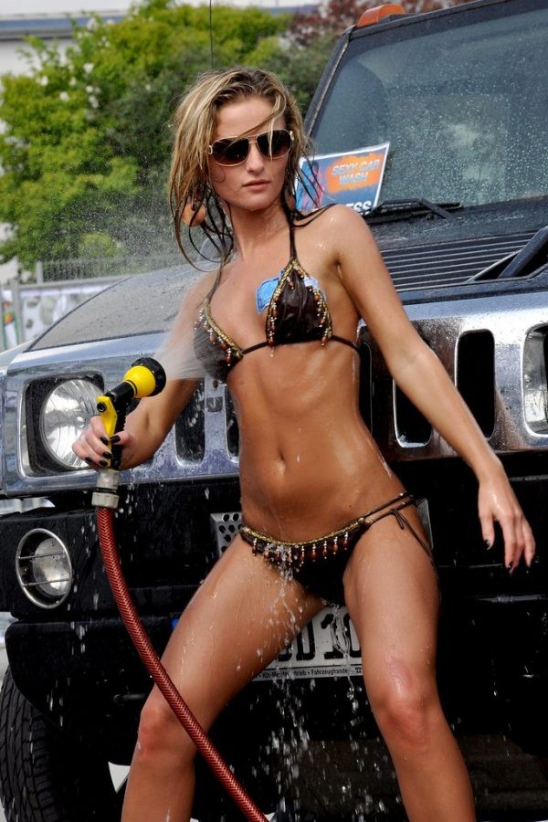 CAR WASH WEDNESDAY rachel-mccord-poses-in-a-red-bikini-for-a-car-wash-photoshoot-in-malibu-californi