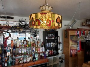 Got the old lamp rewired and hung above the bar in the new man cave. 58680966_2387129058004530_23363