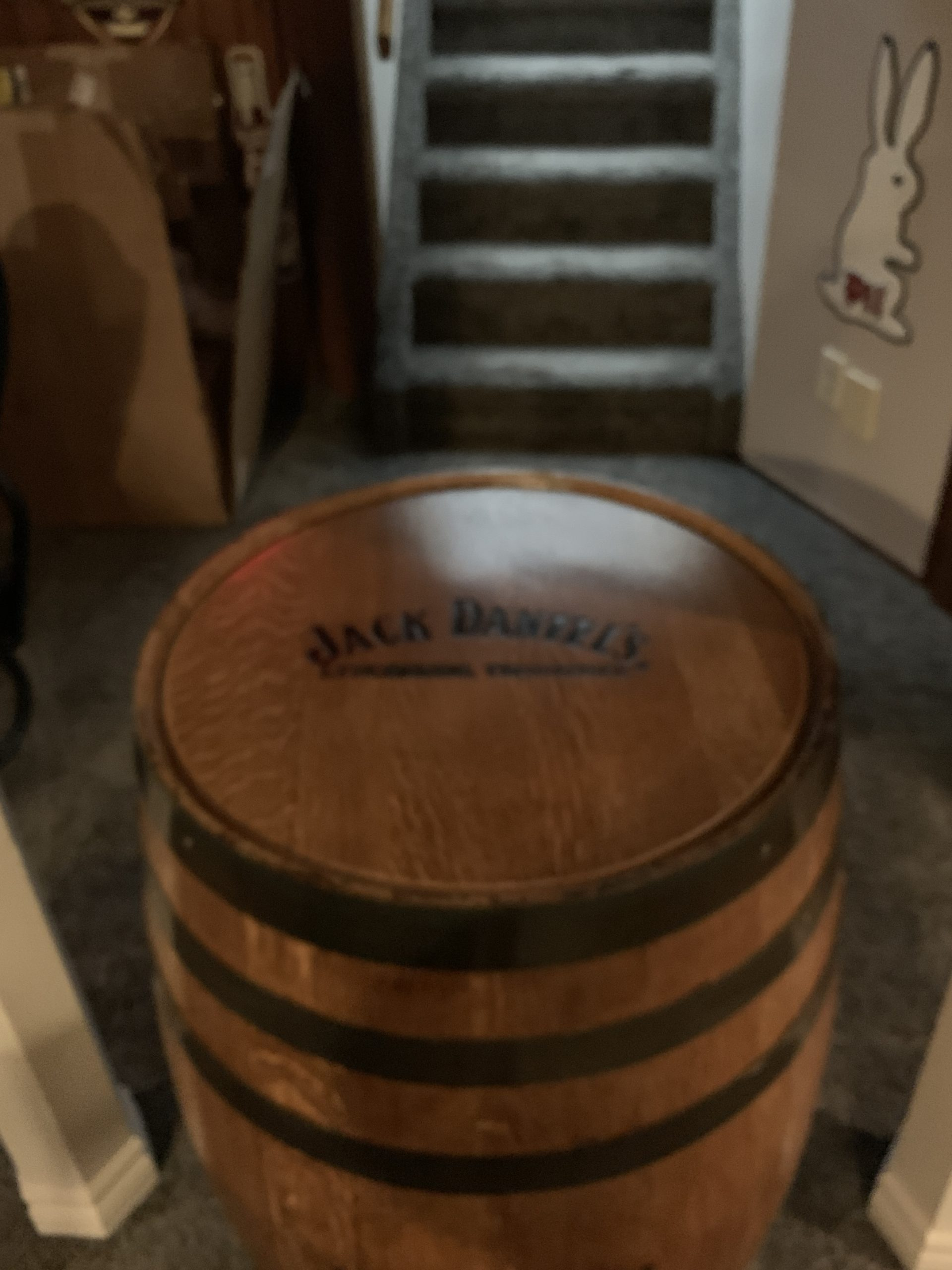 New for the cave got it from Tennessee Jack Daniel's a nice addition 71618797-35FE-4CC8-98D0-F5A99